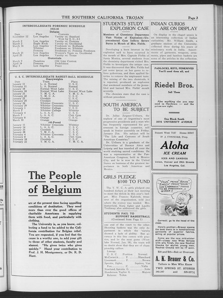 The Southern California Trojan, Vol. 7, No. 58, January 13, 1916