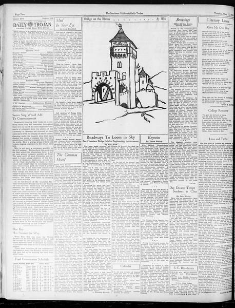 Daily Trojan, Vol. 25, No. 140, May 22, 1934