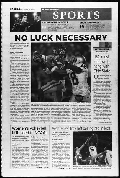 Daily Trojan, Vol. 159, No. 65, November 28, 2006
