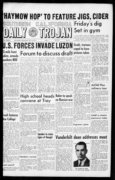 Daily Trojan, Vol. 36, No. 43, January 10, 1945