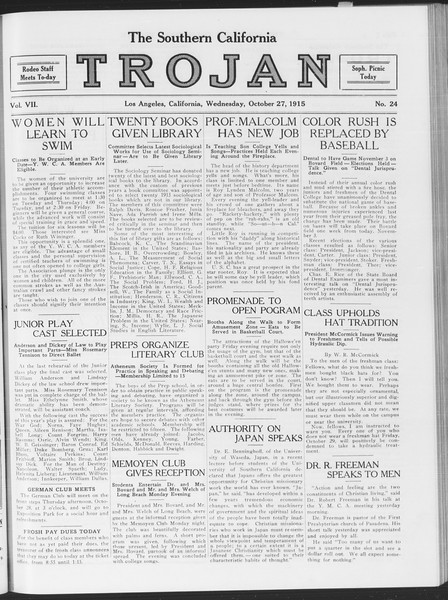 The Southern California Trojan, Vol. 7, No. 24, October 27, 1915