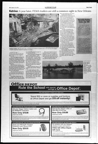 Daily Trojan, Vol. 159, No. 7, August 29, 2006