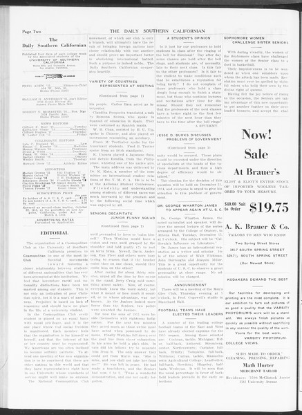 The Daily Southern Californian, Vol. 5, No. 44, December 09, 1914