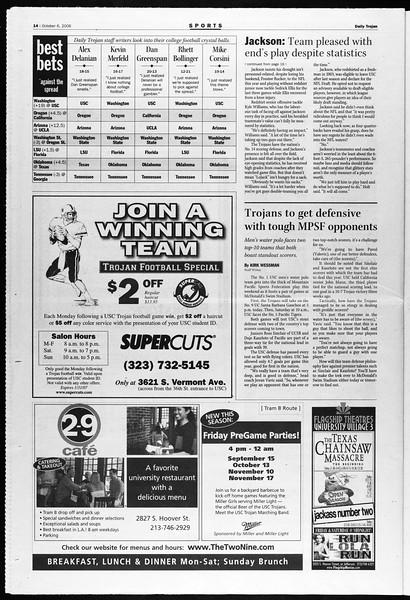 Daily Trojan, Vol. 159, No. 33, October 06, 2006