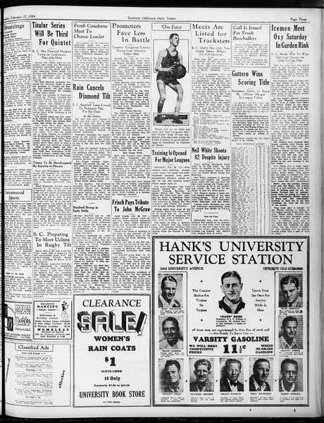 Daily Trojan, Vol. 25, No. 85, February 27, 1934