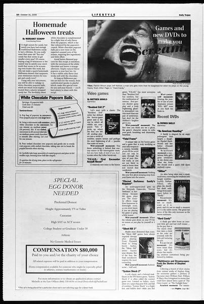 Daily Trojan, Vol. 159, No. 50, October 31, 2006