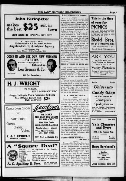 The Daily Southern Californian, Vol. 4, No. 42, May 05, 1914