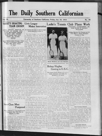 The Daily Southern Californian, Vol. 9, No. 58, January 10, 1913