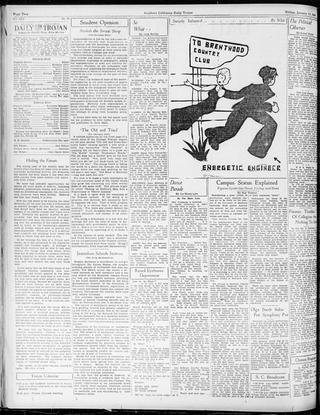 Daily Trojan, Vol. 25, No. 62, January 12, 1934