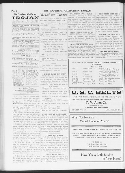 The Southern California Trojan, Vol. 7, No. 32, November 10, 1915