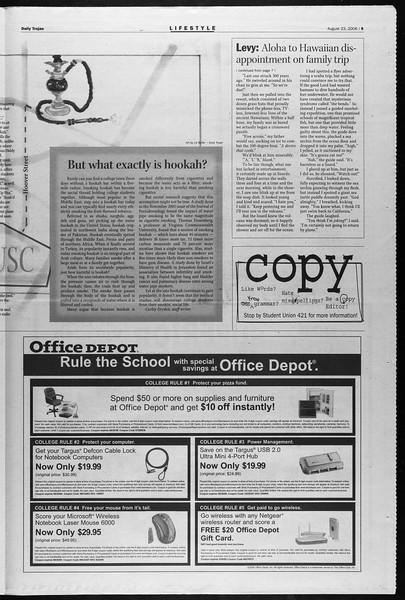 Daily Trojan, Vol. 159, No. 3, August 23, 2006