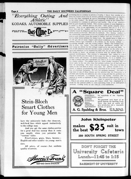The Daily Southern Californian, Vol. 4, No. 20, March 13, 1914