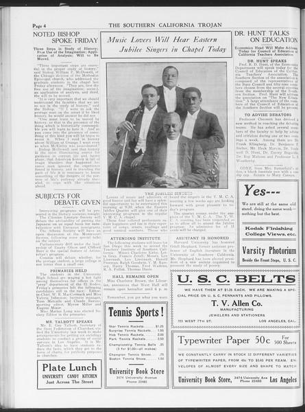 The Southern California Trojan, Vol. 7, No. 31, November 09, 1915