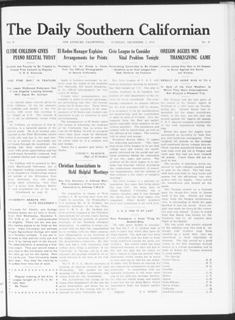 The Daily Southern Californian, Vol. 5, No. 41, December 01, 1914