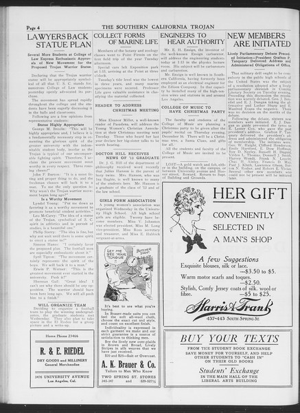 The Southern California Trojan, Vol. 7, No. 48, December 10, 1915