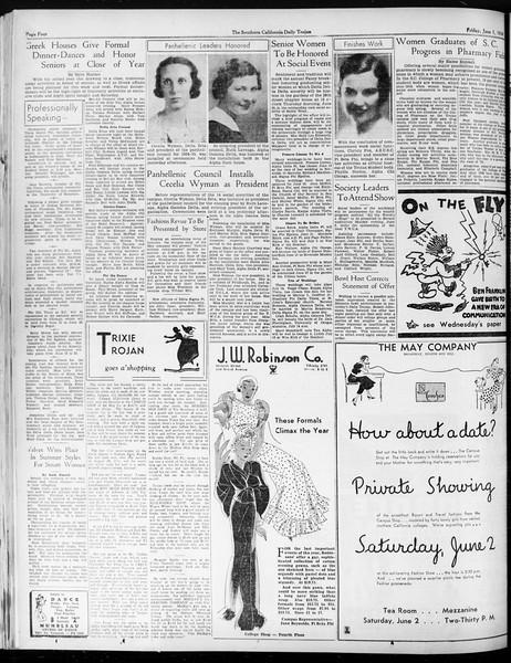 Daily Trojan, Vol. 25, No. 147, June 01, 1934