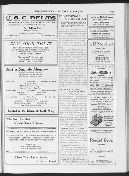 The Southern California Trojan, Vol. 7, No. 29, November 04, 1915