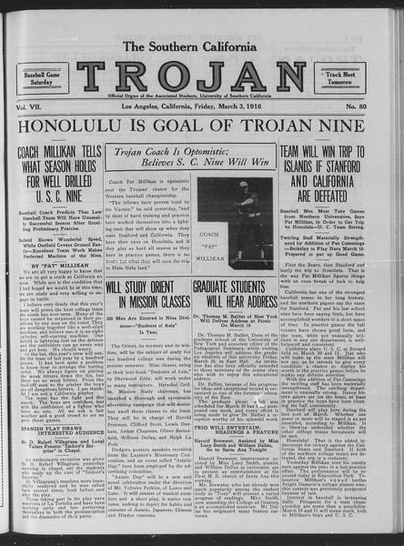 The Southern California Trojan, Vol. 7, No. 80, March 03, 1916