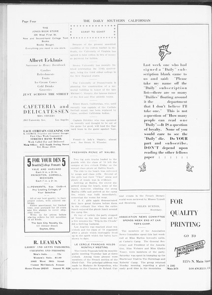 The Daily Southern Californian, Vol. 5, No. 31, November 10, 1914