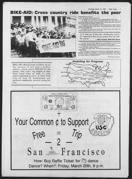 Daily Trojan, Vol. 103, No. 46, March 19, 1987