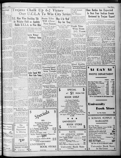 Daily Trojan, Vol. 25, No. 125, May 01, 1934