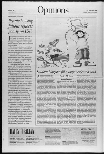 Daily Trojan, Vol. 159, No. 2, August 22, 2006