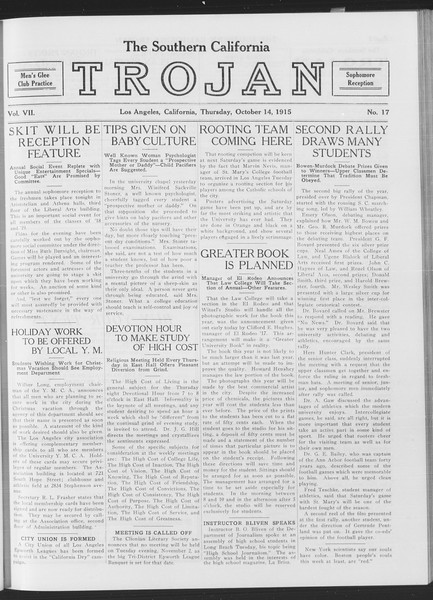 The Southern California Trojan, Vol. 7, No. 17, October 14, 1915