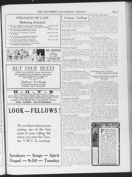 The Southern California Trojan, Vol. 7, No. 77, February 29, 1916