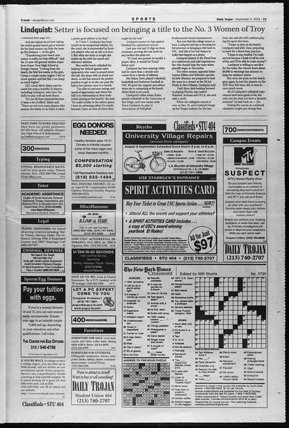 Daily Trojan, Vol. 147, No. 7, September 05, 2002