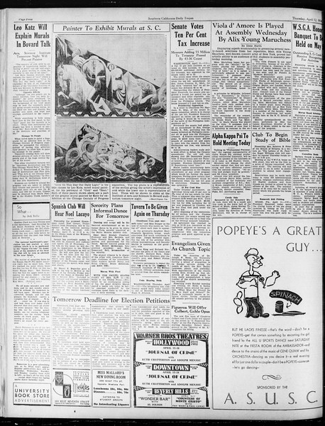Daily Trojan, Vol. 25, No. 112, April 12, 1934