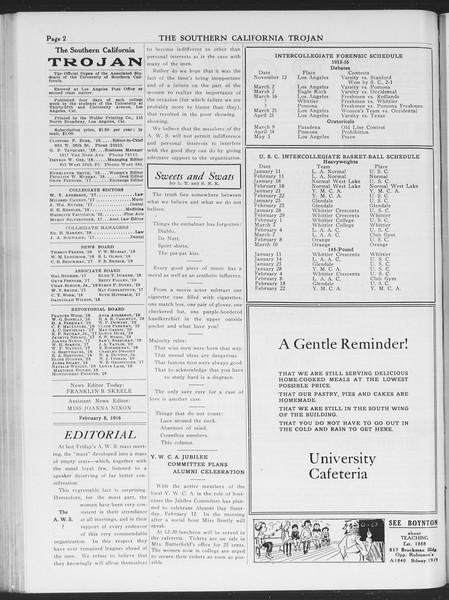 The Southern California Trojan, Vol. 7, No. 67, February 08, 1916