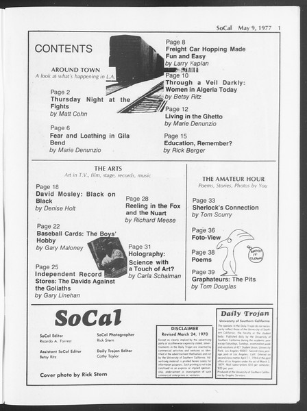 SoCal, Vol. 71, No. 55, May 09, 1977