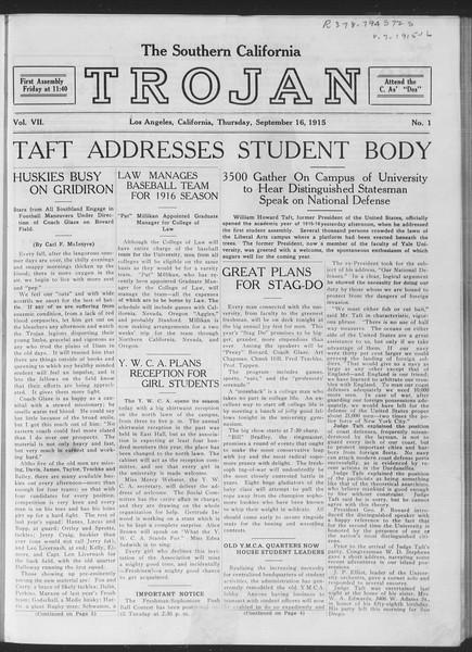 The Southern California Trojan, Vol. 7, No. 1, September 16, 1915