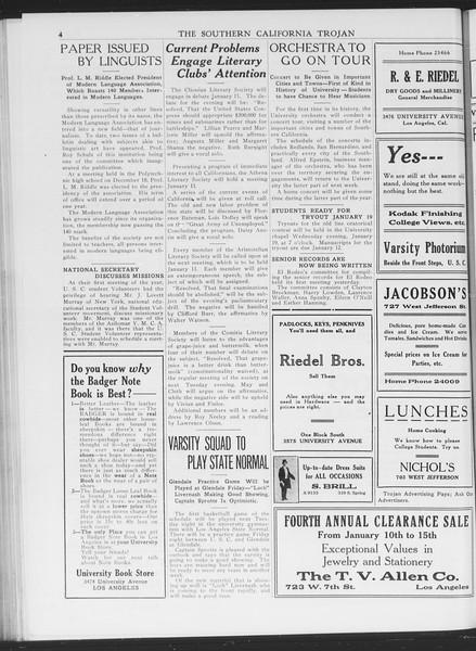 The Southern California Trojan, Vol. 7, No. 54, January 06, 1916
