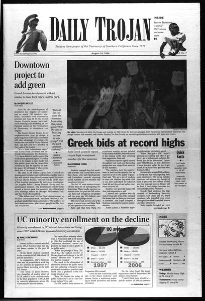 Daily Trojan, Vol. 159, No. 7, August 29, 2006