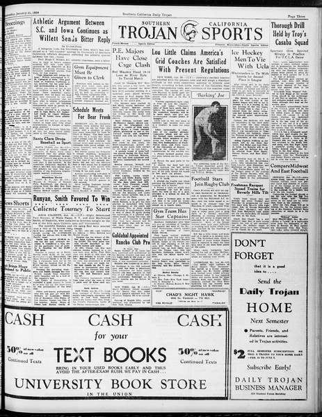 Daily Trojan, Vol. 25, No. 75, January 31, 1934