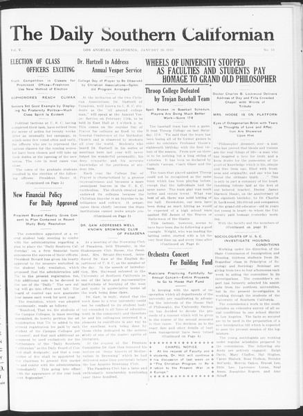 The Daily Southern Californian, Vol. 5, No. 54, January 26, 1915
