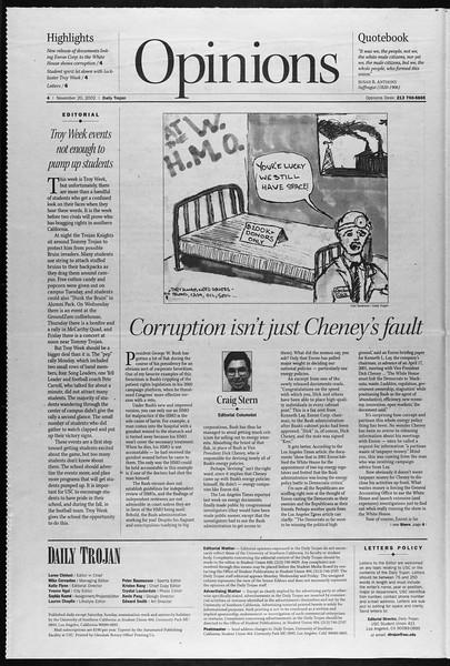 Daily Trojan, Vol. 147, No. 60, November 20, 2002