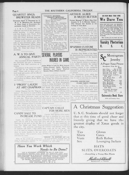 The Southern California Trojan, Vol. 7, No. 50, December 15, 1915