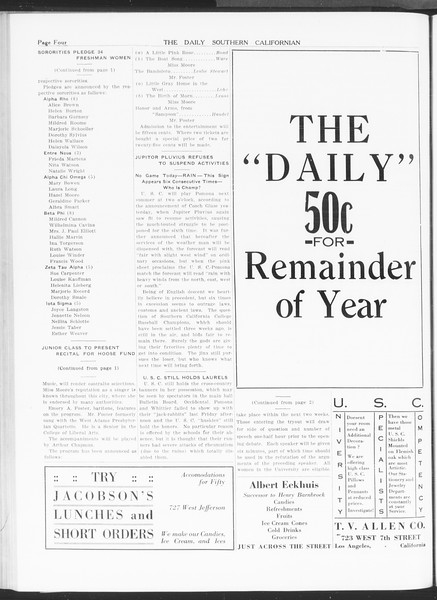 The Daily Southern Californian, Vol. 6, No. 6, February 26, 1915