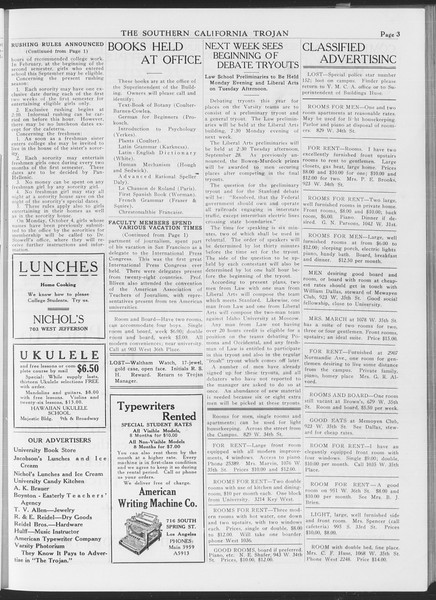 The Southern California Trojan, Vol. 7, No. 5, September 23, 1915