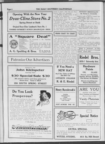 The Daily Southern Californian, Vol. 3, No. 66, January 22, 1914