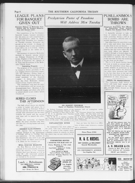 The Southern California Trojan, Vol. 7, No. 22, October 22, 1915