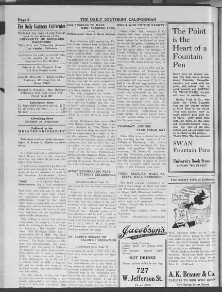 The Daily Southern Californian, Vol. 3, No. 32, November 05, 1913