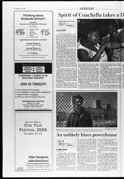 Daily Trojan, Vol. 159, No. 35, October 10, 2006