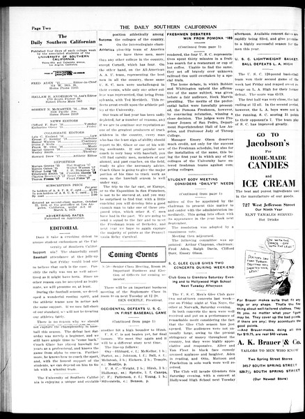 The Daily Southern Californian, Vol. 5, No. 52, January 19, 1915