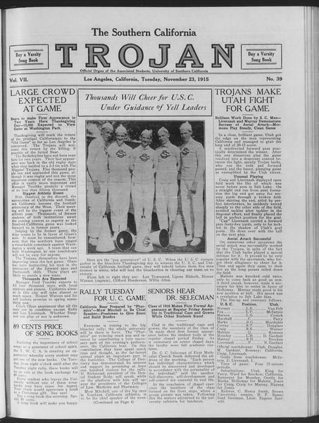 The Southern California Trojan, Vol. 7, No. 39, November 23, 1915