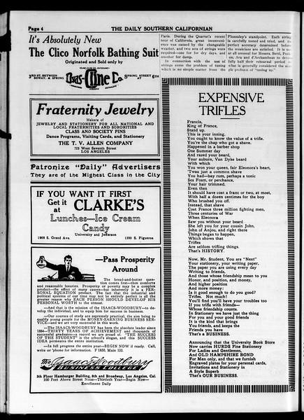 The Daily Southern Californian, Vol. 4, No. 41, May 01, 1914