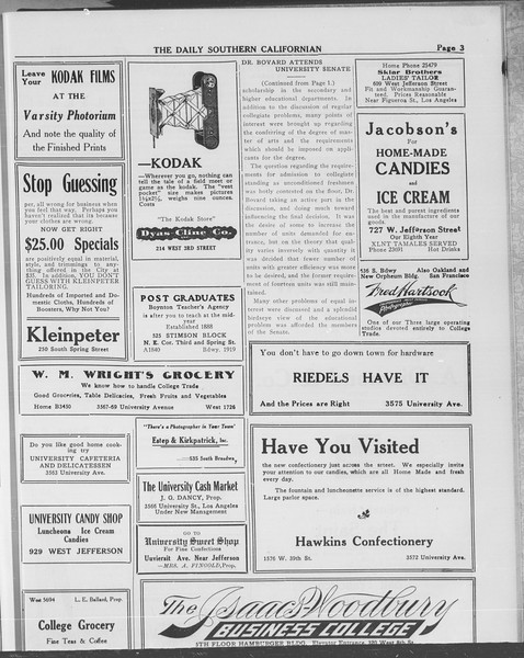 The Daily Southern Californian, Vol. 10, No. 51, May 22, 1913