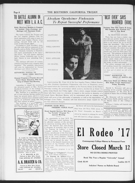 The Southern California Trojan, Vol. 7, No. 78, March 01, 1916